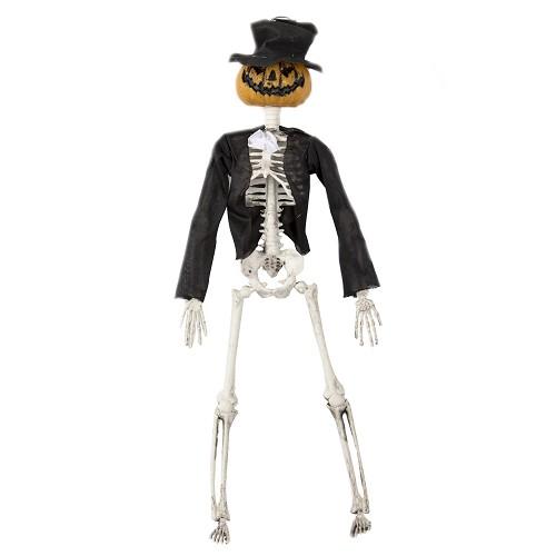 Esqueleto Con Cabeza De Calabaza