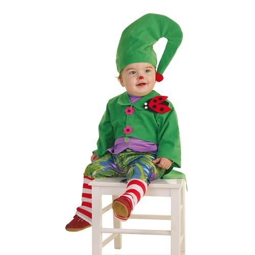 Bebê fantasia duende verde (0-12 meses)