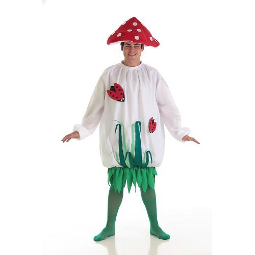 Homem de traje adulto cogumelo