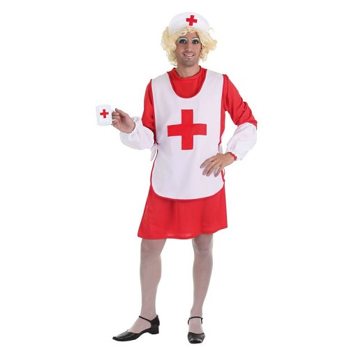 Fantasia adulto mulher Cruz Vermelha T-Xl