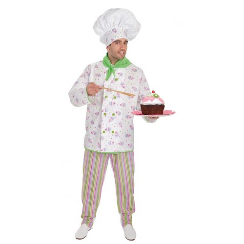 Chef de pastelaria traje adulto