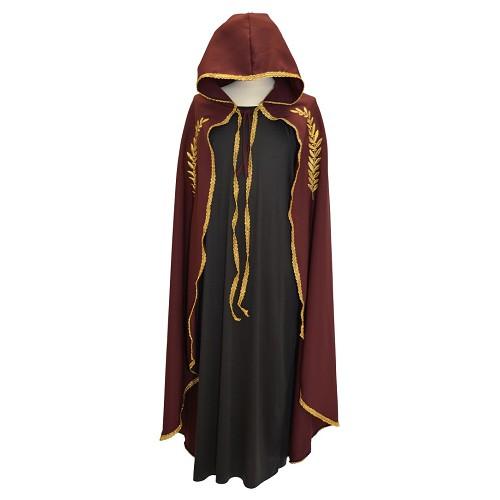 Marian casaco bordado Garnet ouro T-Xl