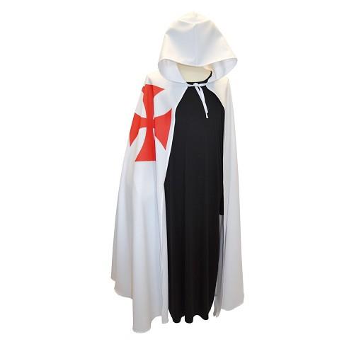Tamanho de um casaco branco dos Templários