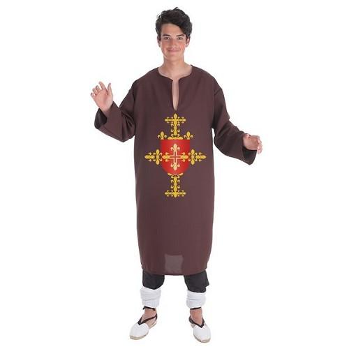 Fantasia adulto túnica marrom