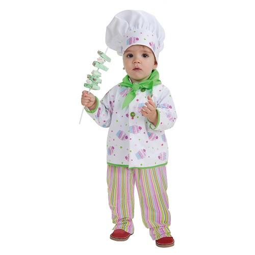 Bebê fantasia Baker (0-12 meses)