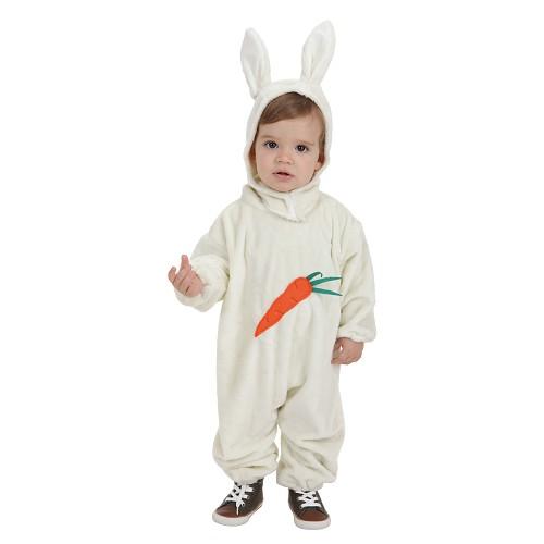 Fantasia de cenoura coelho de bebê (0 a 12 meses)