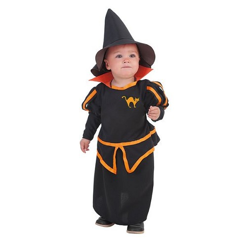 Fantasia de bruxa bebê Carol (0-12 meses)