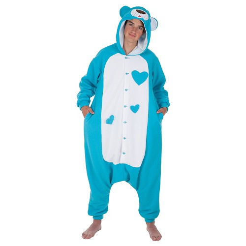Fantasia adulto engraçado Teddy azul t-l