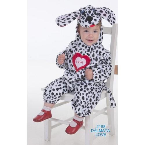 Fantasia de bebê amor dálmata (0 a 12 meses)