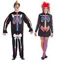 Disfarces de Skeleto Colorido