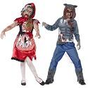 Disfarces de Capuz Vermelha e Lobo Zombie