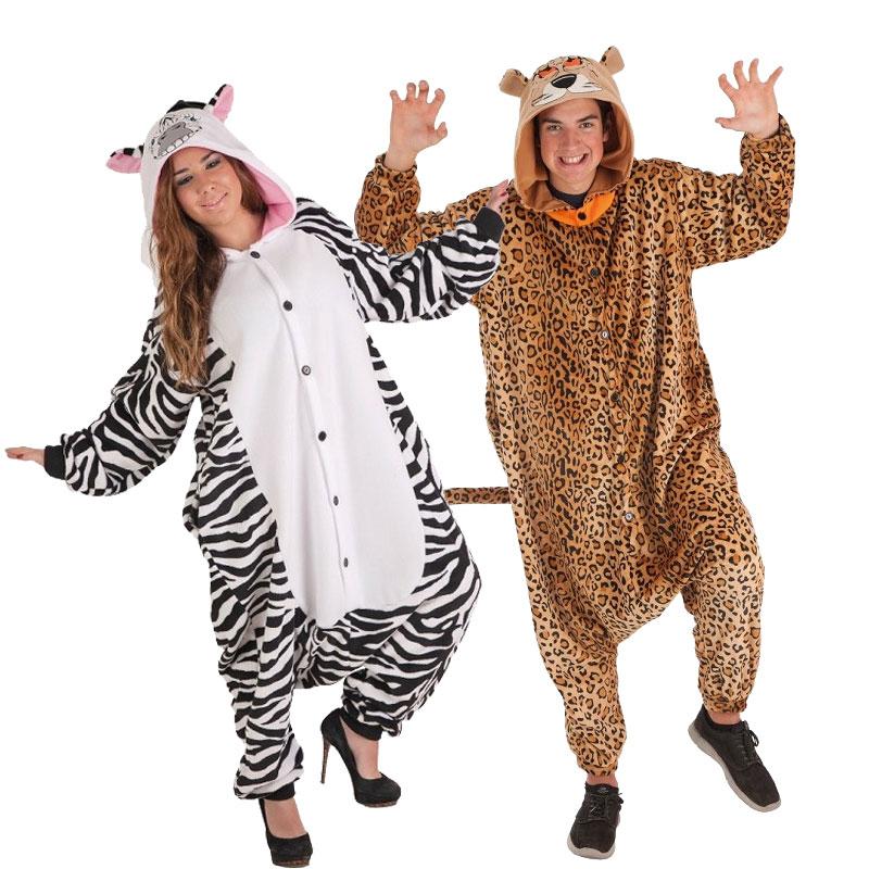 Disfraces Guepardo y Cebra